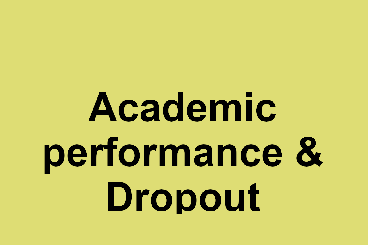 System to support the leading of colleges for early assessment of academic performance and risk of dropout